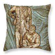 One More Shot - Rogers Group Statue Throw Pillow