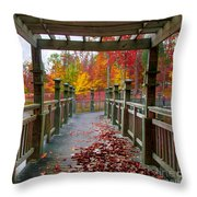 One More Stroll Throw Pillow