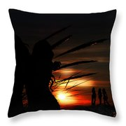 One Night At The Seashore  Throw Pillow
