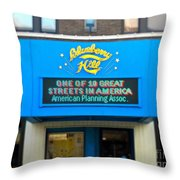 One Of Ten Great Streets In America Throw Pillow