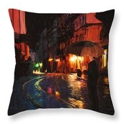 One Of These Nights Throw Pillow