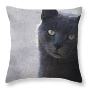One Of Those Mysterious Blue Days Throw Pillow