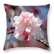 One Pink Blossom Throw Pillow by Carol Groenen