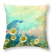 One Pink Daisy Throw Pillow