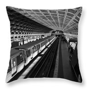One Point Perspective Throw Pillow