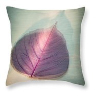 One Purple Leaf Throw Pillow
