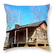 One Room Pioneer Log Cabin  Throw Pillow