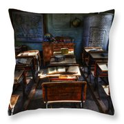 One Room School House Throw Pillow by Bob Christopher