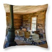 One Room Schoolhouse Throw Pillow