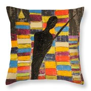 One Series 13 - Ronin In Dystopia Throw Pillow