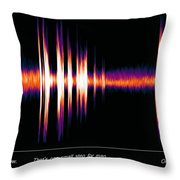 One Small Step With Words Throw Pillow