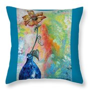 One Solitary Flower Throw Pillow