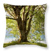 One Spring Tree Throw Pillow