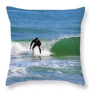 One Surfer Throw Pillow