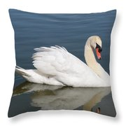 One Swan Throw Pillow