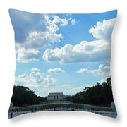 One View Two Memorials Throw Pillow