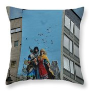 One Wall One Artist Throw Pillow