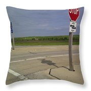 One Way Stop Throw Pillow