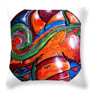 One Way Ticket To The Island Throw Pillow