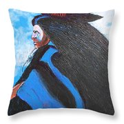 One With Raven Throw Pillow
