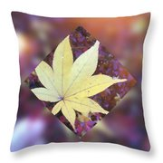 One Yellow Maple Leaf Throw Pillow