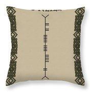 O'neill Written In Ogham Throw Pillow