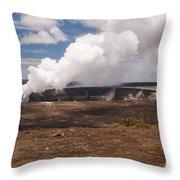 Ongoing Eruption Throw Pillow