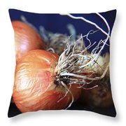 Onion Roots Throw Pillow