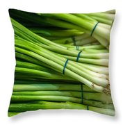 Onion With Chives Throw Pillow