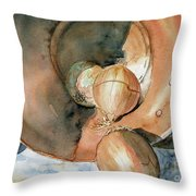 Onions And Copper Throw Pillow