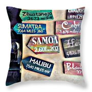 Only In Honolulu Throw Pillow