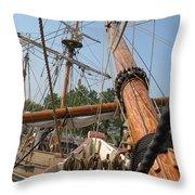 Only Masts Throw Pillow