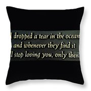 Only Then Throw Pillow