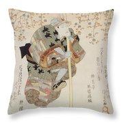 Onoe Kikugoro IIi As Shimbei Throw Pillow