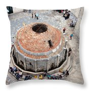 Onofrio Fountain In Dubrovnik Throw Pillow