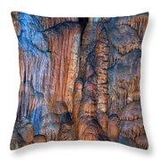 Onondaga Cave Detail Img 4270 Throw Pillow