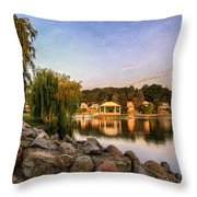 Onondaga Park Hiawatha Lake Throw Pillow