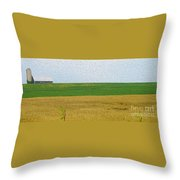Ontario Farm In Landscape Mode Throw Pillow