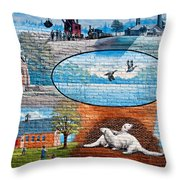Ontario Heritage Mural Throw Pillow