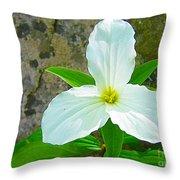 Ontario Trillium Throw Pillow