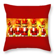Onward Toy Soldiers Throw Pillow