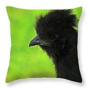 Onyx On Green Throw Pillow