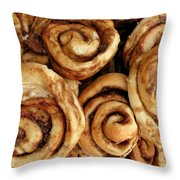 Ooey Gooey Cinnamon Buns Throw Pillow