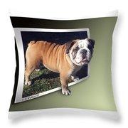 Oof Dog Throw Pillow
