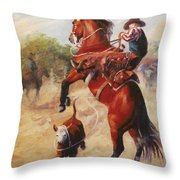 Oops          Buckaroo Western Oil Painting Throw Pillow