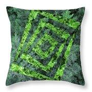 Op Art Garden 2 Throw Pillow