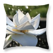 Opaque Lily Throw Pillow