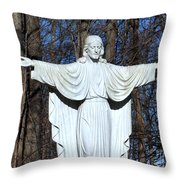 Open Arms Throw Pillow