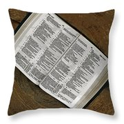 Open Bible Throw Pillow