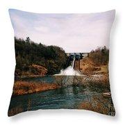 Dam At Raystown Lake Throw Pillow